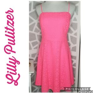 LILLY PULITZER NWT Pink Sundress Lace Size Med